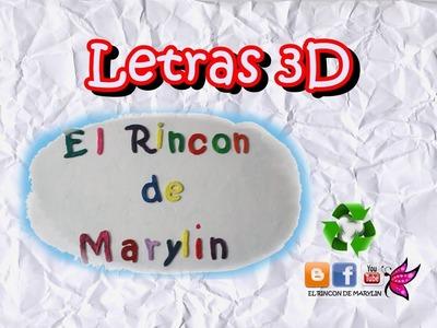 Diy,Letras en 3D de carton, Logotipo del canal. Manualidades faciles
