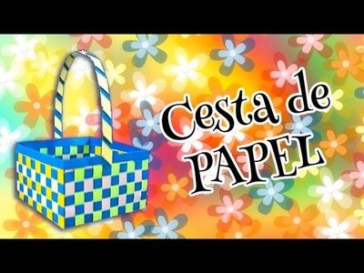Haz una #CESTA de PAPEL de forma Facil | Manualidades aPasos