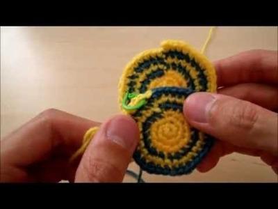 Cambio de color sin escalón en tejido circular (ganchillo)