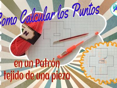 Como calcular los puntos para un Patrón tejido de una pieza