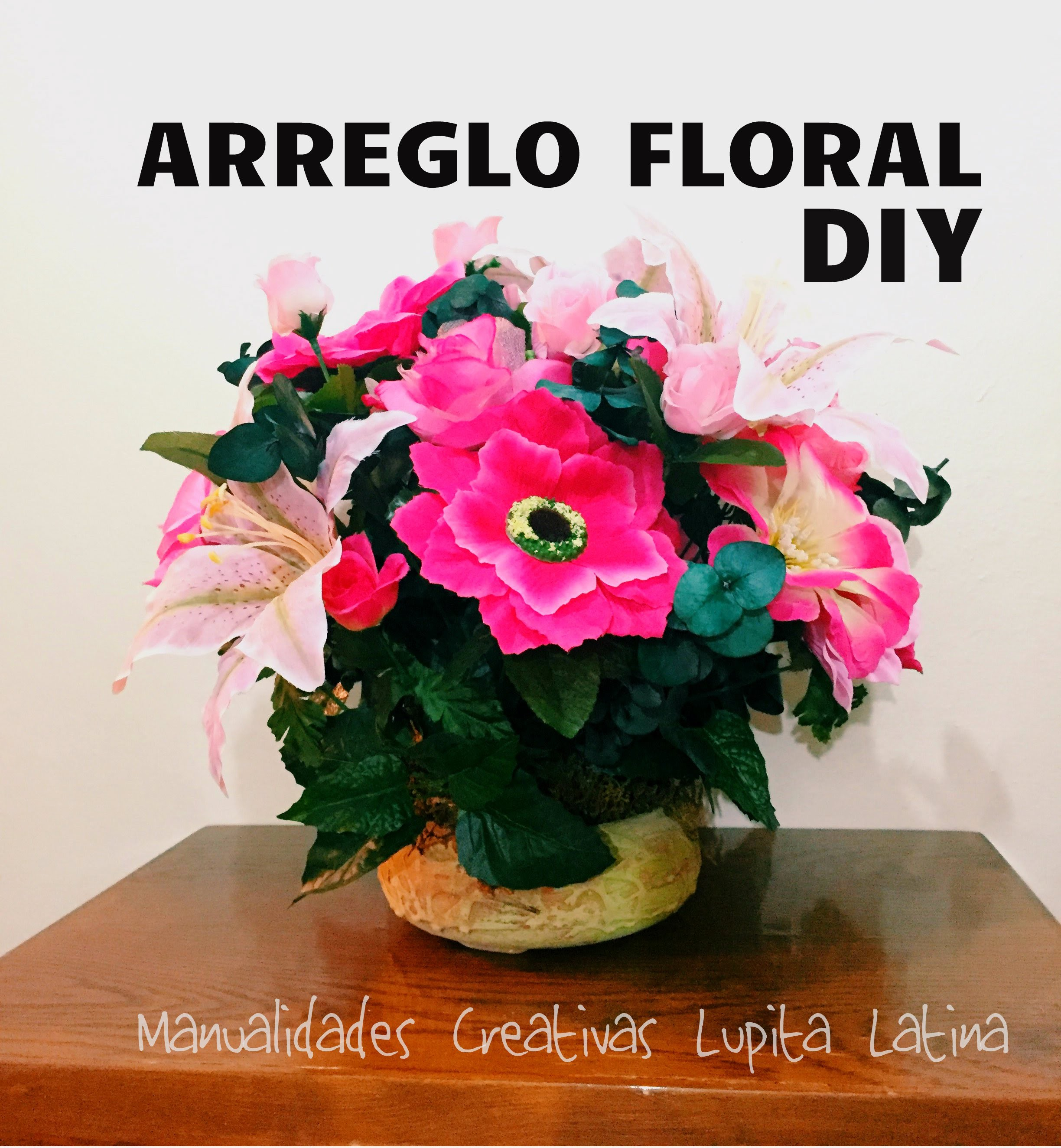 DIY centro de mesa flores artificiales  flower arrangement artificial flowers