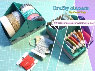 DIY caja para organizar washi tapes y mas