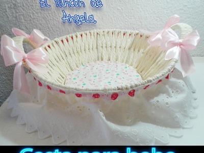 DIY como decorar un cesto para regalo personalizado, vestir cesta