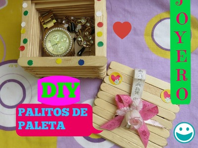 DIY JOYERO FACIL  CON PALOS DE PALETA.DIY JEWELER. COLABORACION MARIANA MORALES