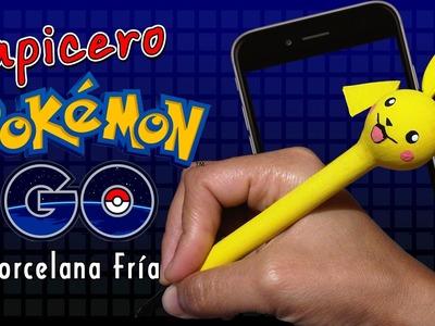 DIY  Lapicero pikachu Pokémon GO. Porcelana Fría. Patty Creativa