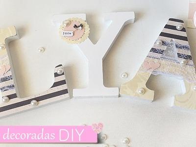 DIY Letras decoradas para boda | Laila color