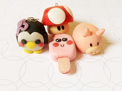 DIY: porcelana fria. figuras.decoracion.facil (puerquito y hongo de videojuegos)
