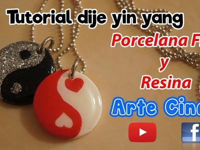 Tutorial Porcelana Fria y resina dijes Yin Yang. Cold porcelain