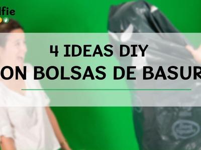 4 ideas DIY con bolsas de basura· Handfie DIY