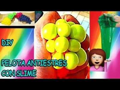 Como hacer Pelota antiestres de slime | DIY squishy stress ball