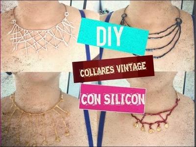 DIY COLLARES VINTAGE CON SILICON     Rebeca Santos