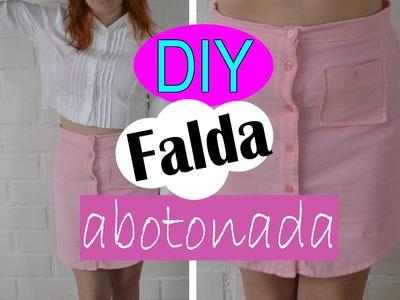 DIY: favorite skirt; haciendo mi falda abotonada. !!
