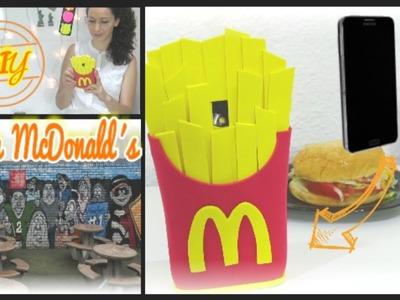Diy fundas para móvil o celular patatas fritas del McDonalds con foamy y silicona