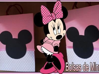 DIY Ideas para fiesta de Minnie Mouse Bolsas Cotillon