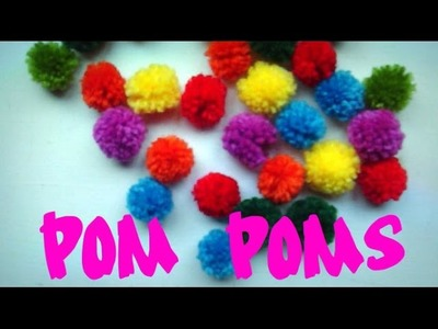 DIY mini pom poms
