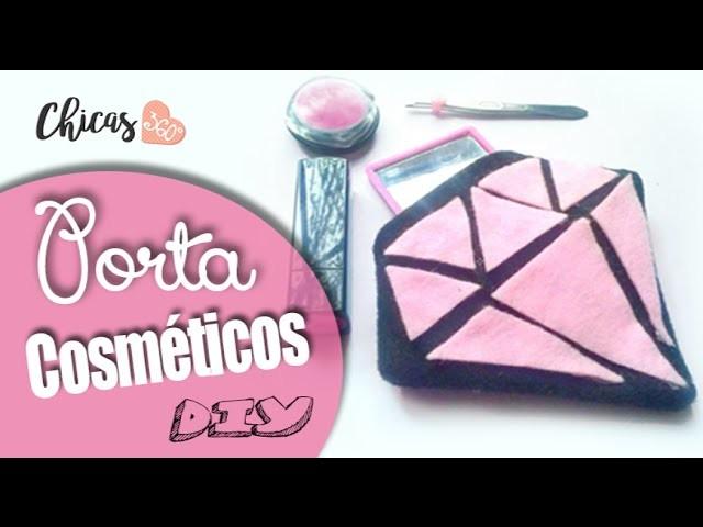 DIY: Porta cosméticos en forma de diamante tumblr - Súper fácil