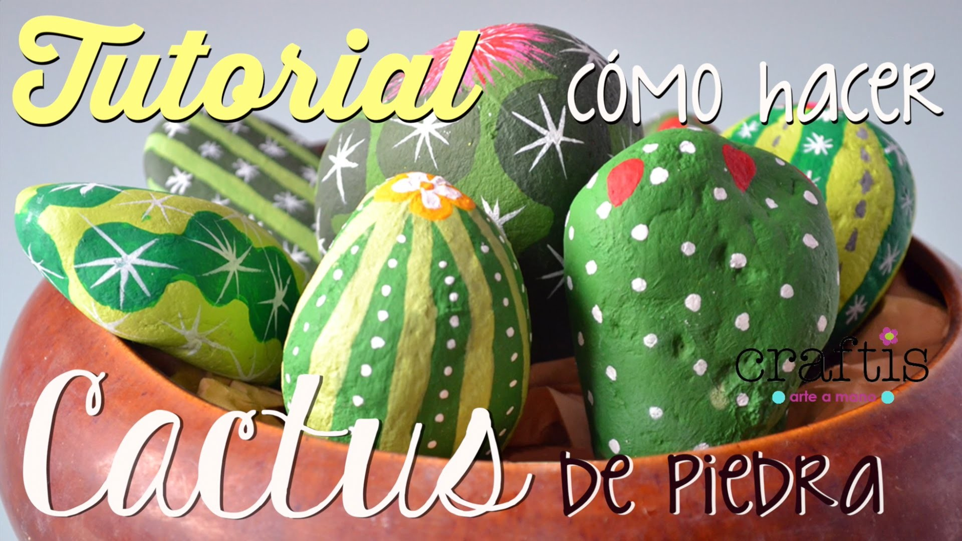 Tutorial: Cómo hacer cactus de piedras