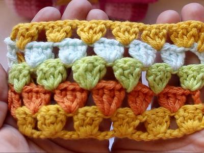 Aprende a tejer el punto Granny Espiga ¡ DIY! cucaditasdesaluta