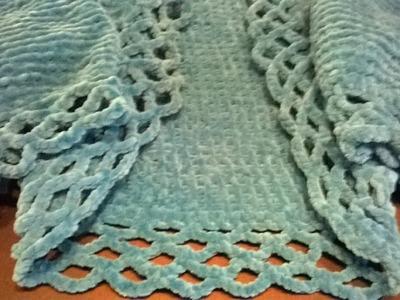 Cómo adaptar vainica sencilla a ganchillo. crochet sobre tejido dos agujas