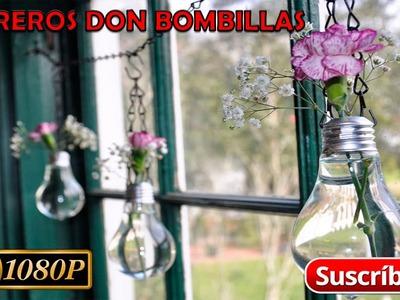 Como hacer un florero con una bombilla - Manualidades | DIY