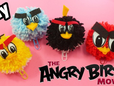 DIY ANGRY BIRDS TOYS - HOW TO MAKE ANGRY BIRDS BOOKMARK (•◡•)|
