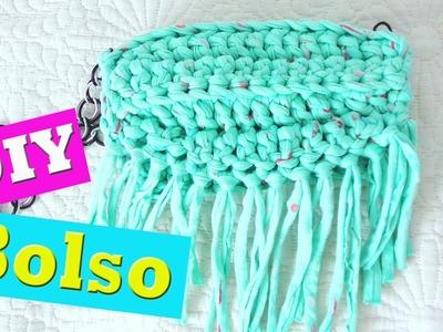 DIY bolso de flecos hecho en crochet