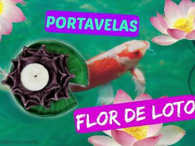 DIY Flor de loto portavelas - DIY lotus candle holder Your creative channel