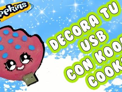 DIY  | SHOPKINS  | DECORA TU PENDRIVE USB CON KOOKY COOKIE