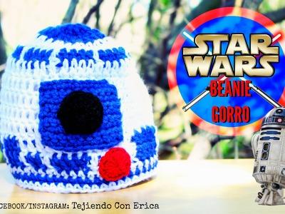 Gorro de STAR WARS R2D2 Crochet Tutorial | Tejiendo Con Erica