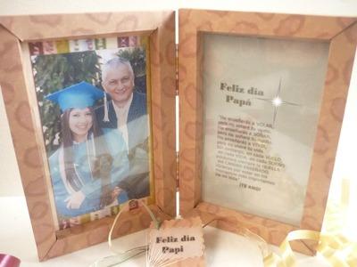 Manualidades: EMPAQUE para REGALO Día del PADRE Porta retrato DIY ♥ Sor Amparo Arredondo R.