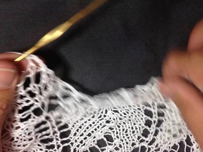 Bind off crochet rain drops