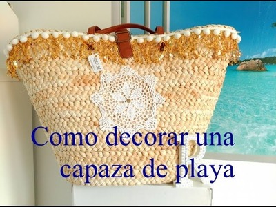 Diy. Decora tu capaza de playa muy chic