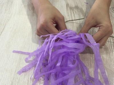 DIY Tassels para una bolsa de regalo - Delipapel