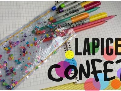 Lapicera transparente de Confeti ❤ Original y Fácil | Ame Mayén
