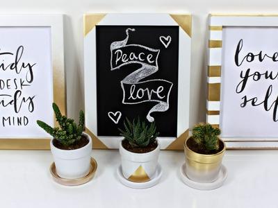 Manualidades para decorar tu escritorio | DIY | Fashaddicti