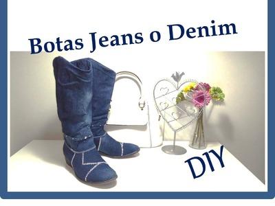 """DIY Como Forrar zapatos o botas  con tela Jeans o Denim """"Customizar, Renovar, Reciclar"""""""