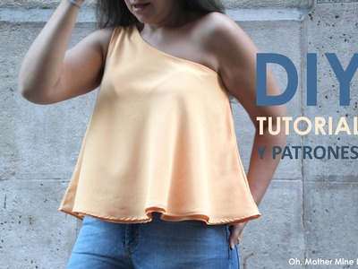 DIY Tutorial y patrones: Blusa asimetrica