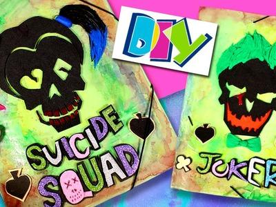 Carpetas decoradas ESCUADRON SUICIDA * DIY SUICIDE SQUAD Harley Quinn & Joker