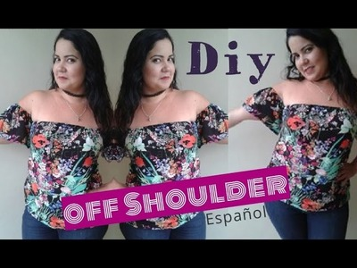 DIY blusa hombros descubiertos fácil! off shoulder campesina