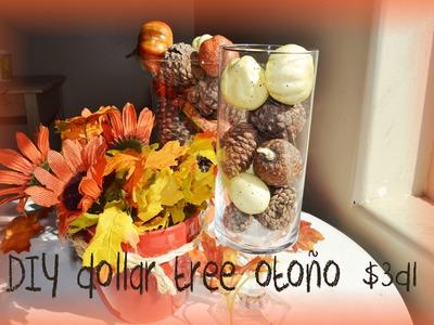 Diy dollar tree otoño decoraciones facil y económica