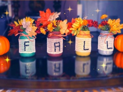 DIY FALL ROOM DECOR. HASLO TU MISMA. DECORACION DEL HOGAR PARA OTONO