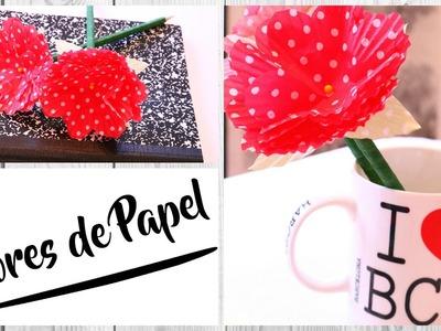 DIY :Flores de papel  colab Clau Beth. Anuncio de Sorteo  by WendyLou