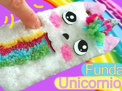DIY Funda para móvil de peluche del unicornio de Snapchat