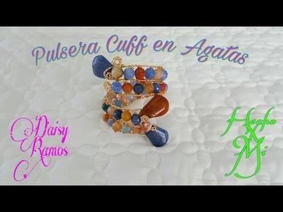 Pulsera Cuff de Agatas, DIY