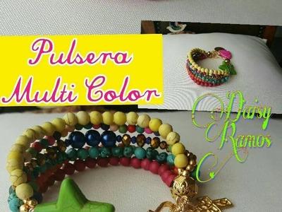 Pulsera Multi Color DIY Fácil de hacer