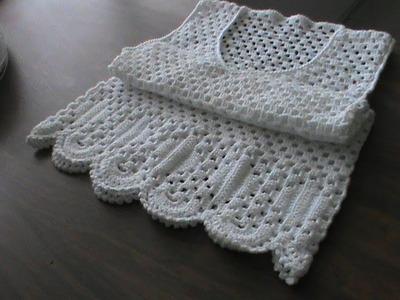 Chaleco o blusón a crochet. Parte 2. Talla 32. (Adaptable).