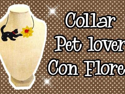 Collar Pet lovers con Flores de tela DIY Tutorial