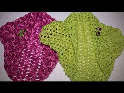 Como hacer una torera o bolero en 3 pasos en crochet (EDITADO)