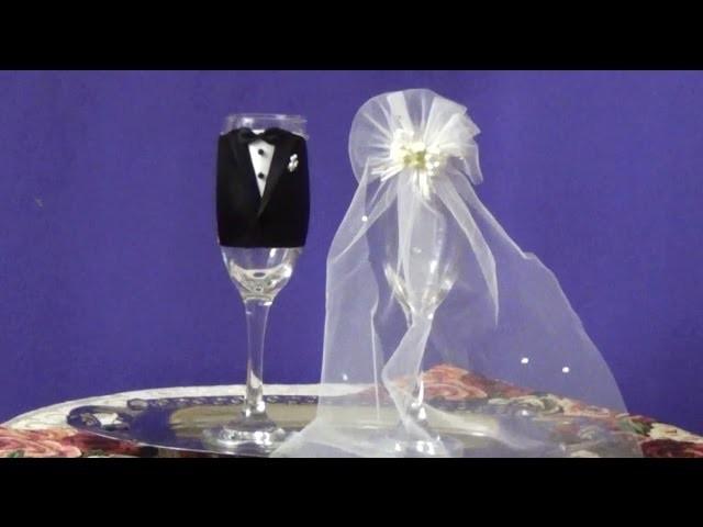 Copas para boda como decorarlas diy - Copas decoradas con velas ...