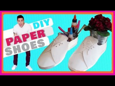 DIY: ZAPATOS DE PAPEL. PAPER SHOES [CC]